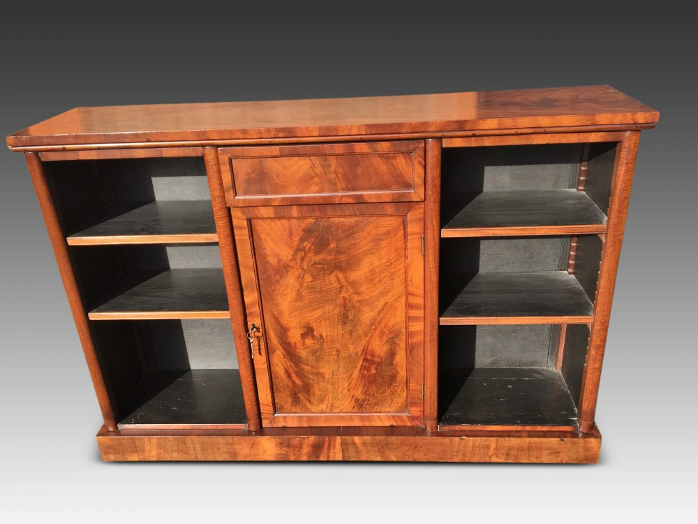 mahogany bookcase open bookcase c 1860