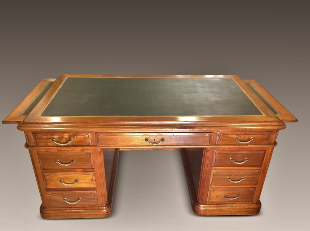 pedestal writing desk c 1890