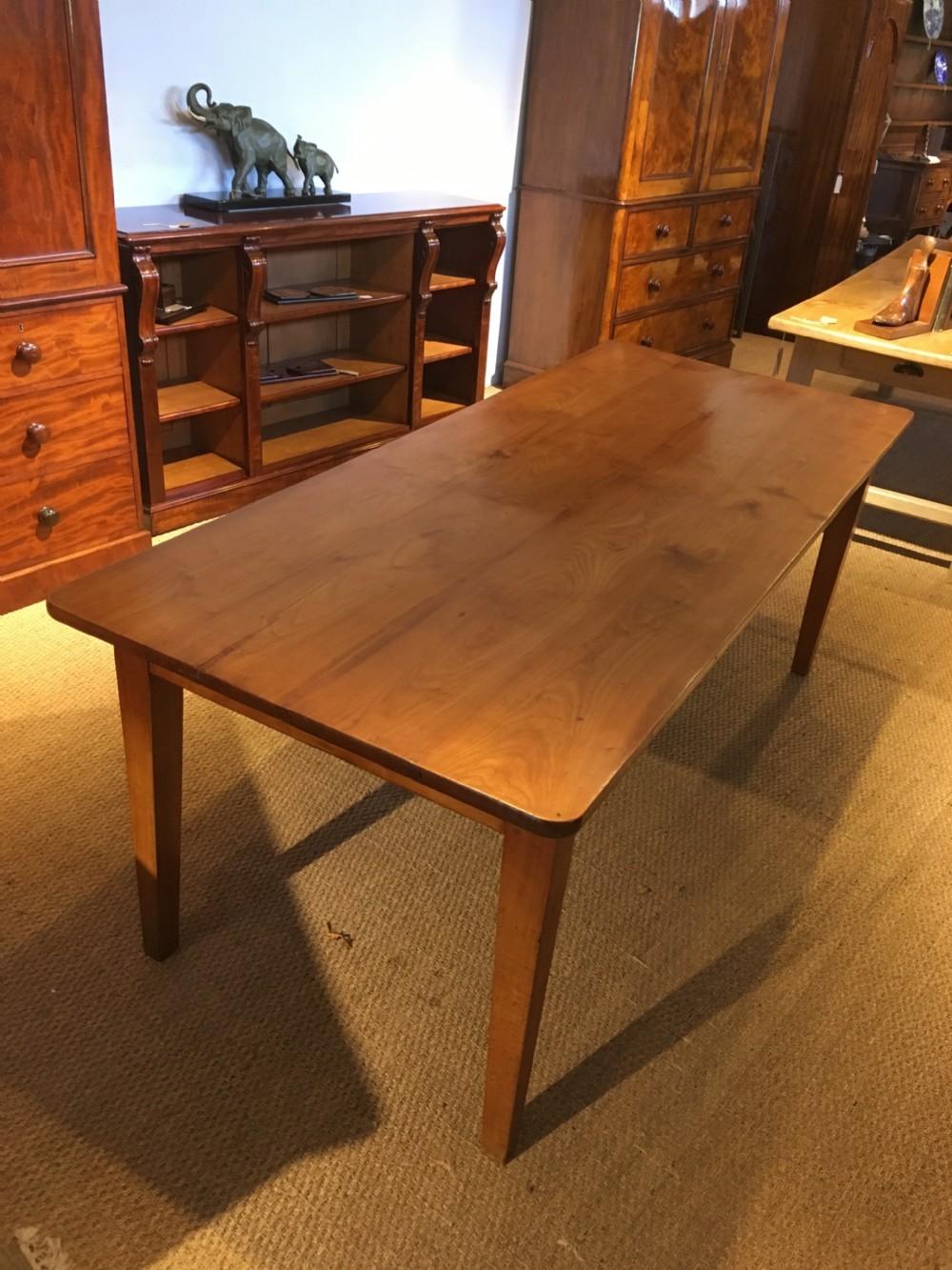 late 19th century cherrywood farmhouse table