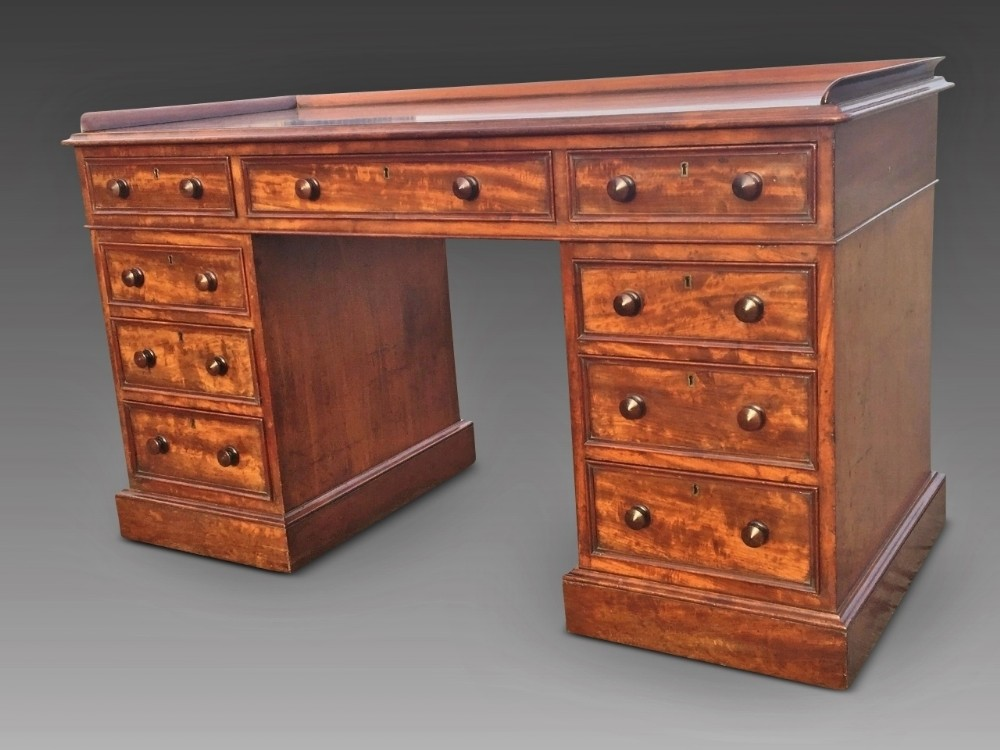 mahogany writing desk english c 1860