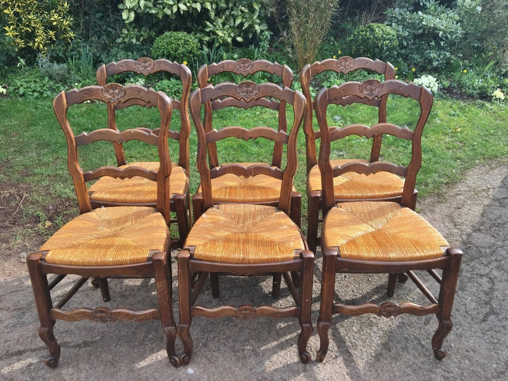 set of 6 french kitchen chairs c1930 art deco period