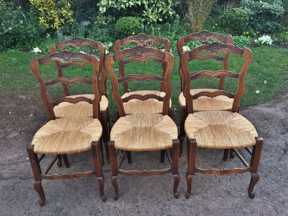 set of 6 french kitchen chairs c 1930 art deco period