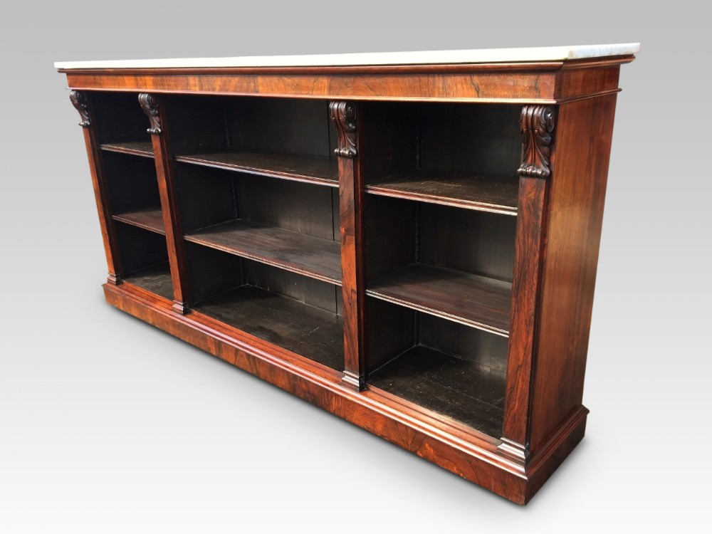 open bookcase rosewood c 1850