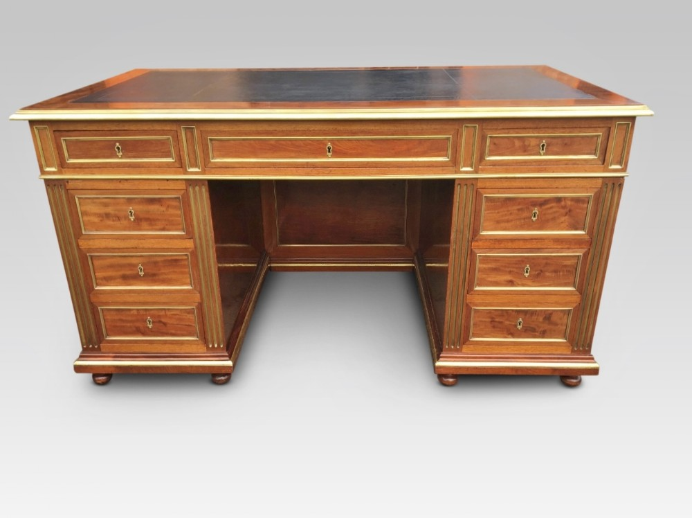 mahogany desk french c 1880