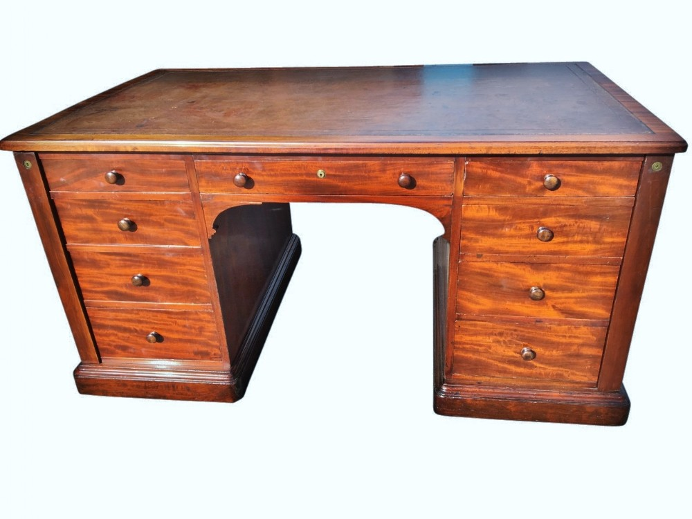 mahogany partners desk english c 1830