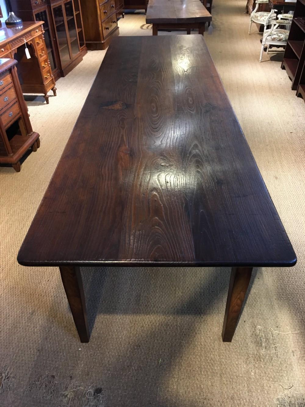chestnut farmhouse table 3 meters long