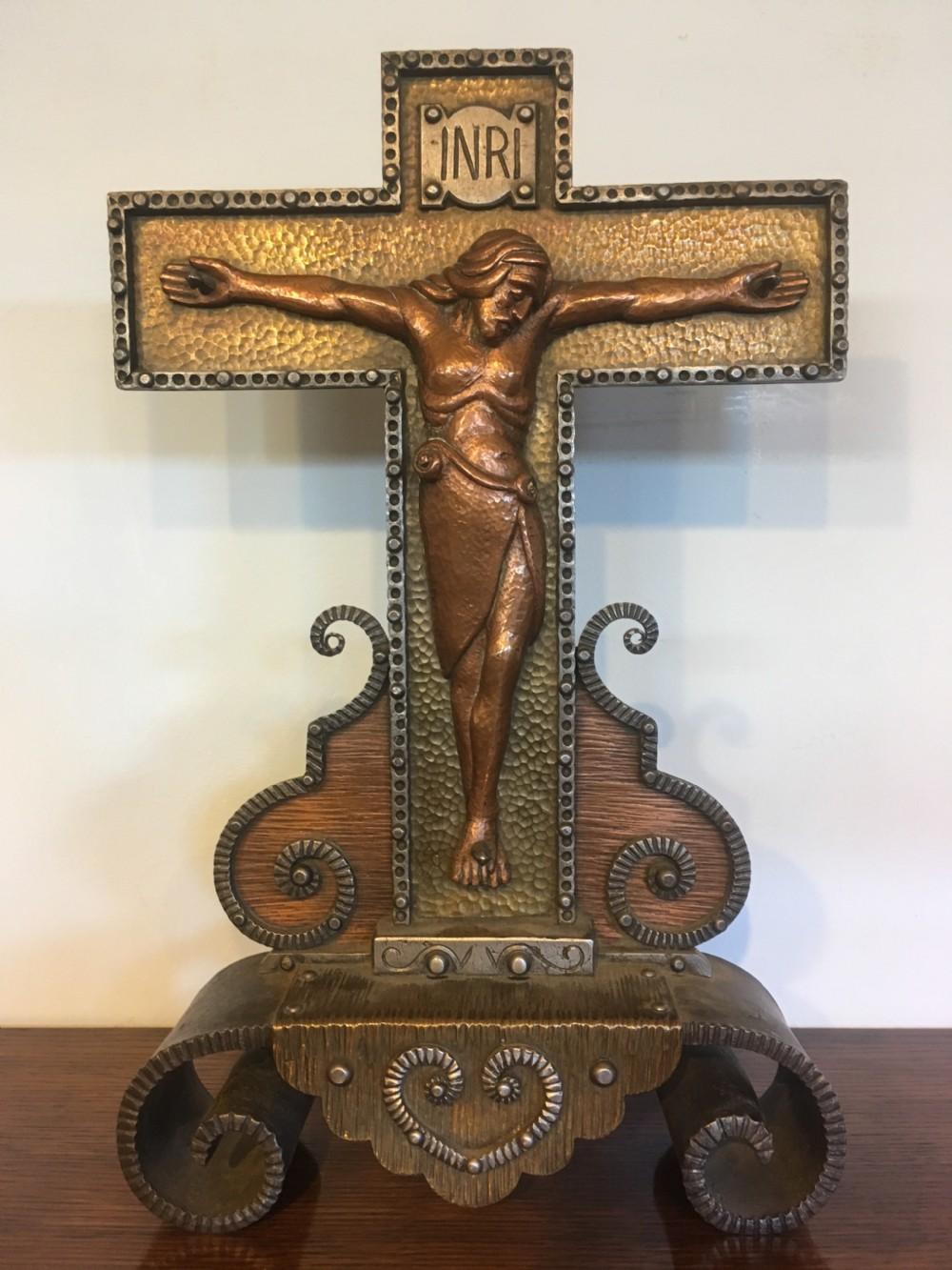 art deco crucifix
