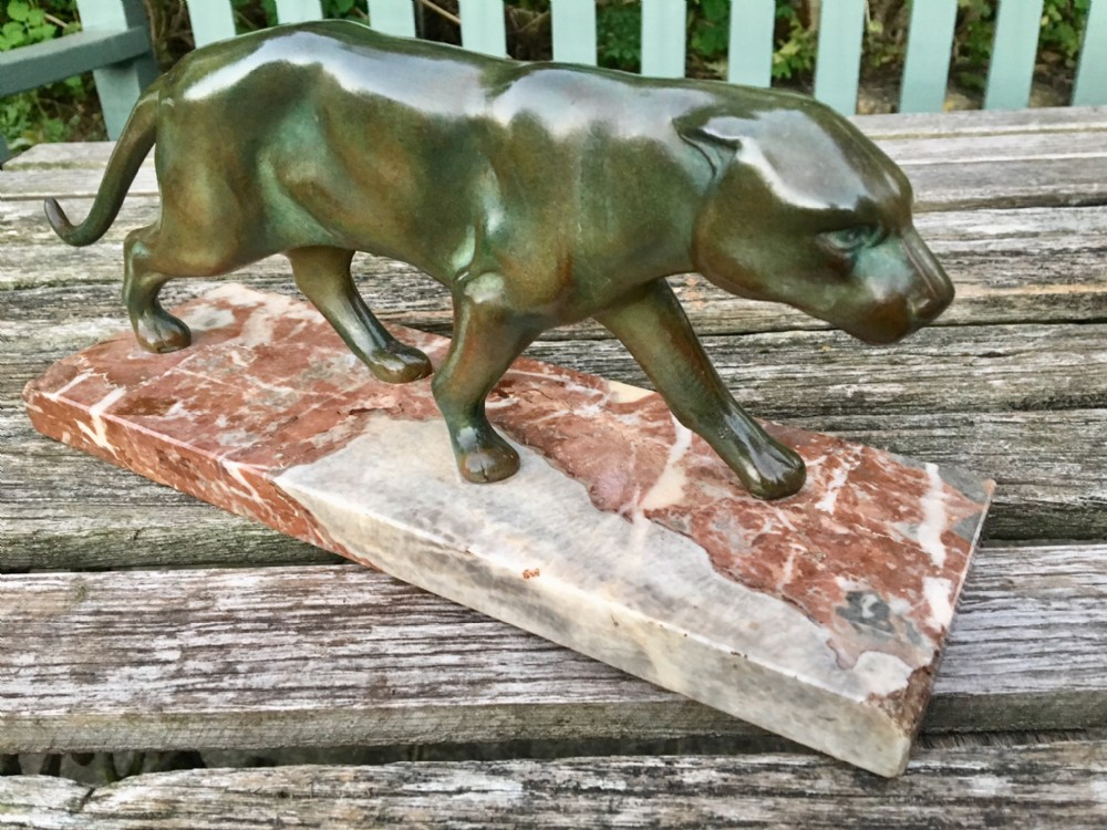 art deco spelter panther c 1930s