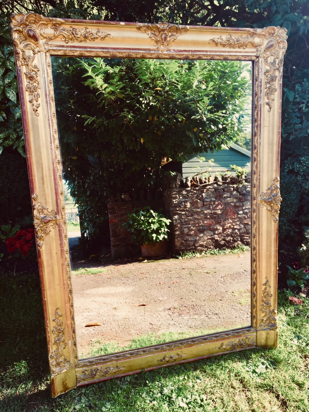 gilt wall mirror overmantle mirror french c 1890