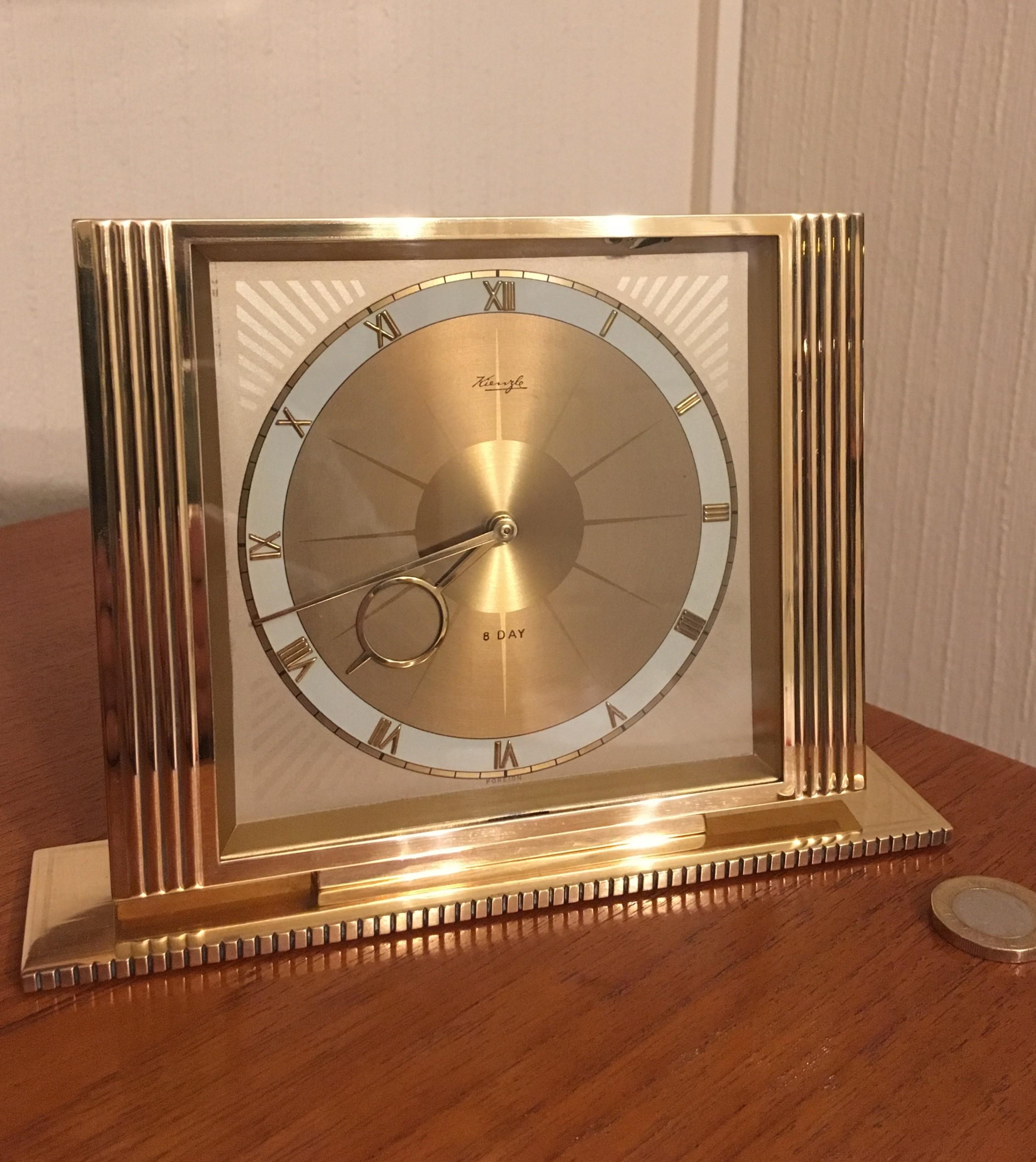 brass cased mantel clock