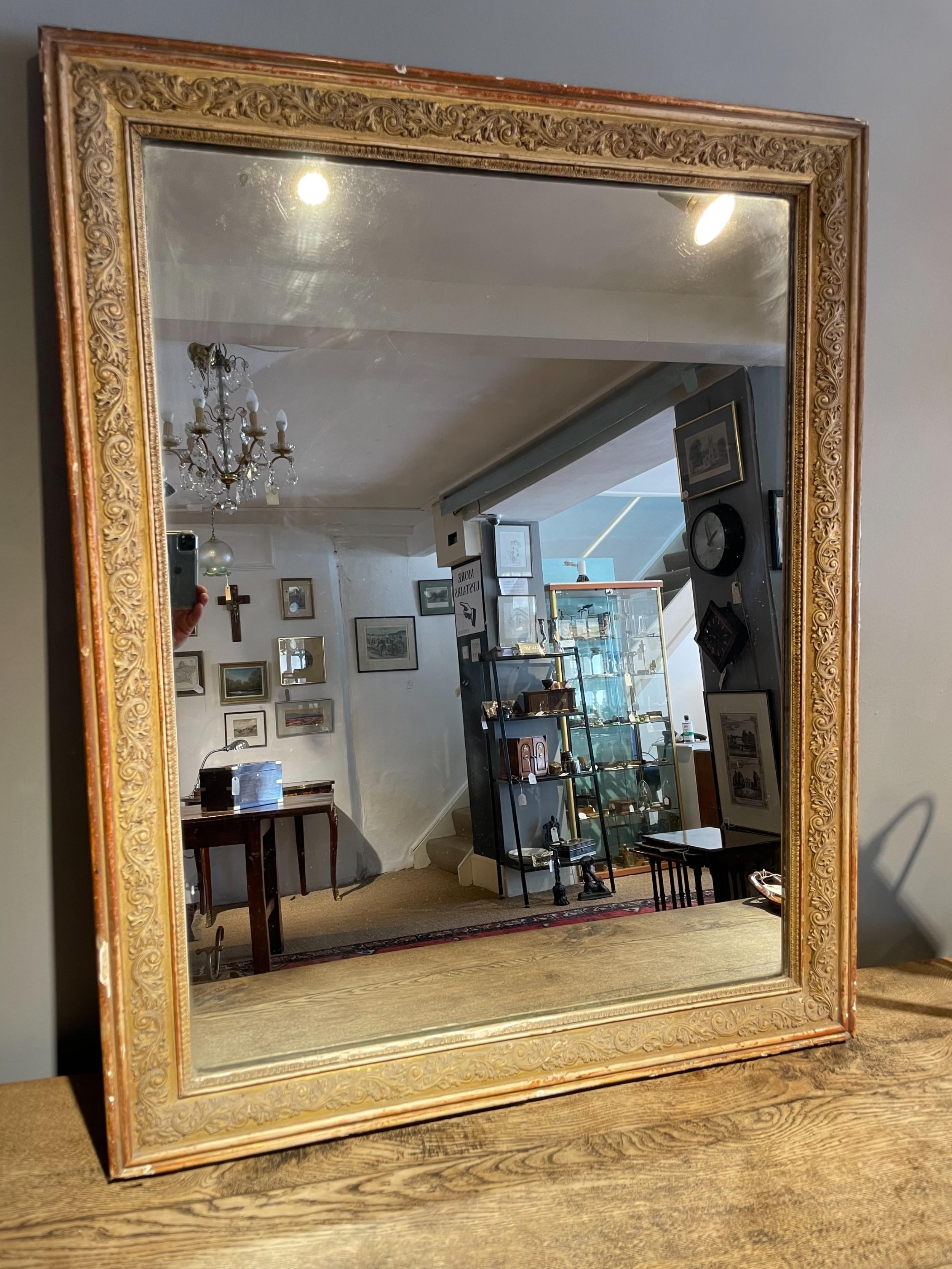 antique gilt mirror 325 x 41