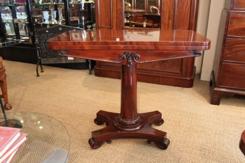 early victorian mahogany card table
