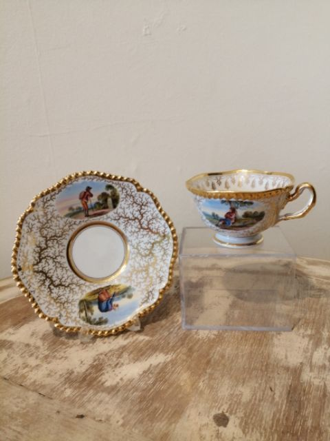 an exceptional flight barr barr cup and saucer
