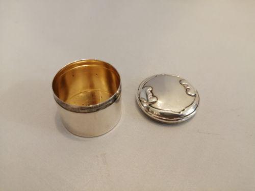 a lovely quality kate harris art nouveau silver pill box