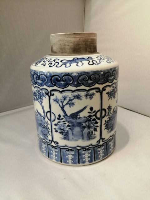 19th century chinese blue and white jar