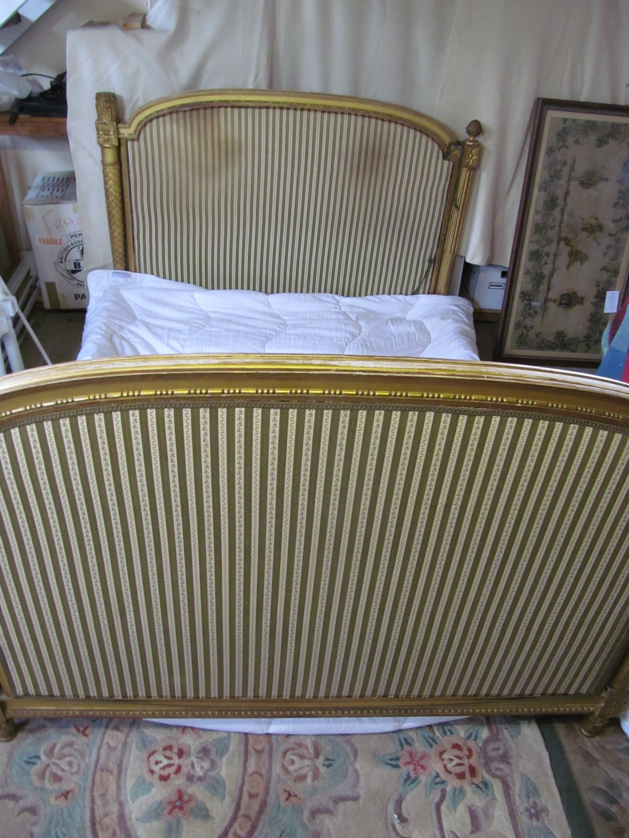 french gilded double day bed