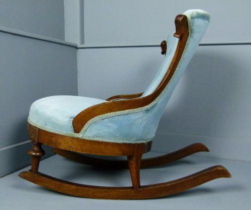 Marvelous Unusual Victorian Button Back Tub Rocking Chair 508595 Evergreenethics Interior Chair Design Evergreenethicsorg