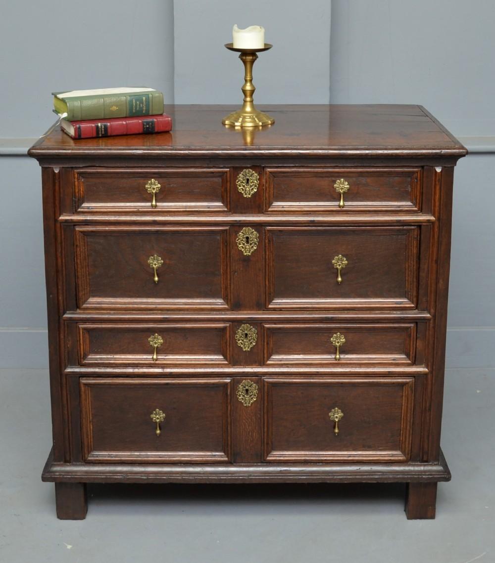charles ii oak chest of drawers c1680