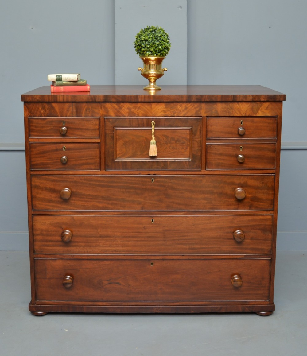 handsome victorian mahogany chest of drawers