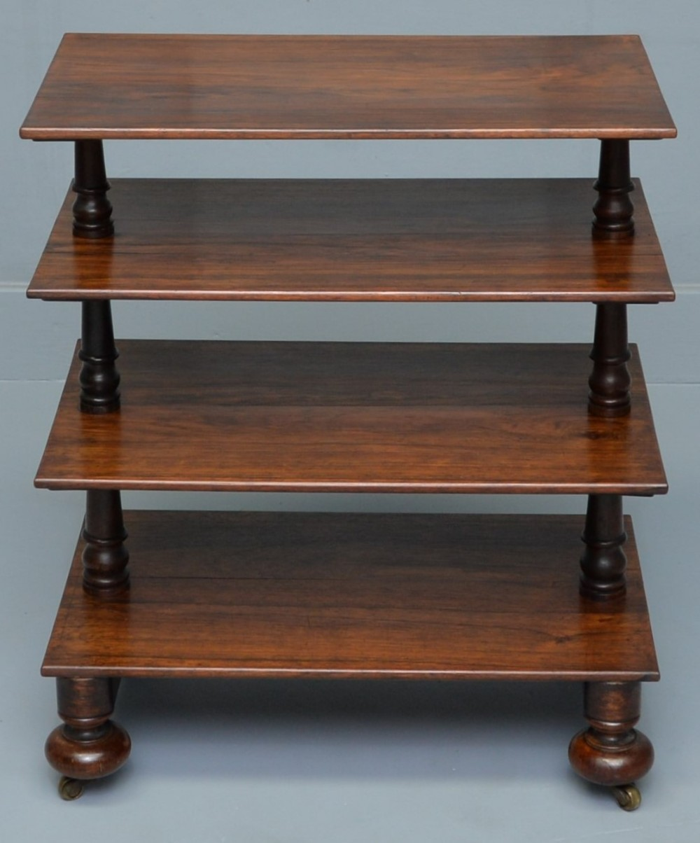william iv solid rosewood whatnot shelves