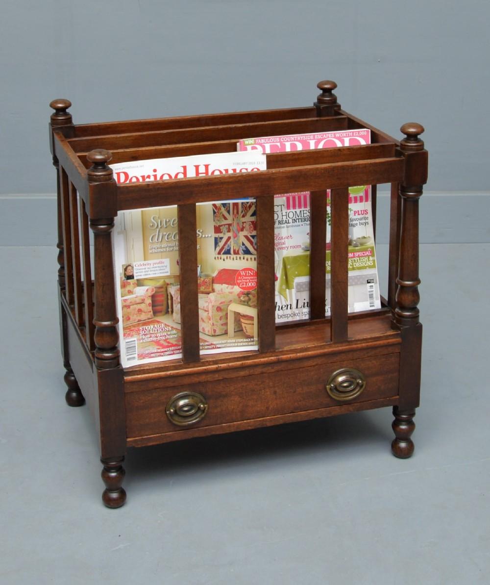 victorian mahogany canterbury magazine stand rack