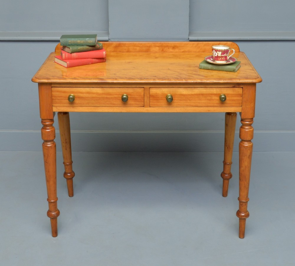 victorian satinwood hall console table writing side table