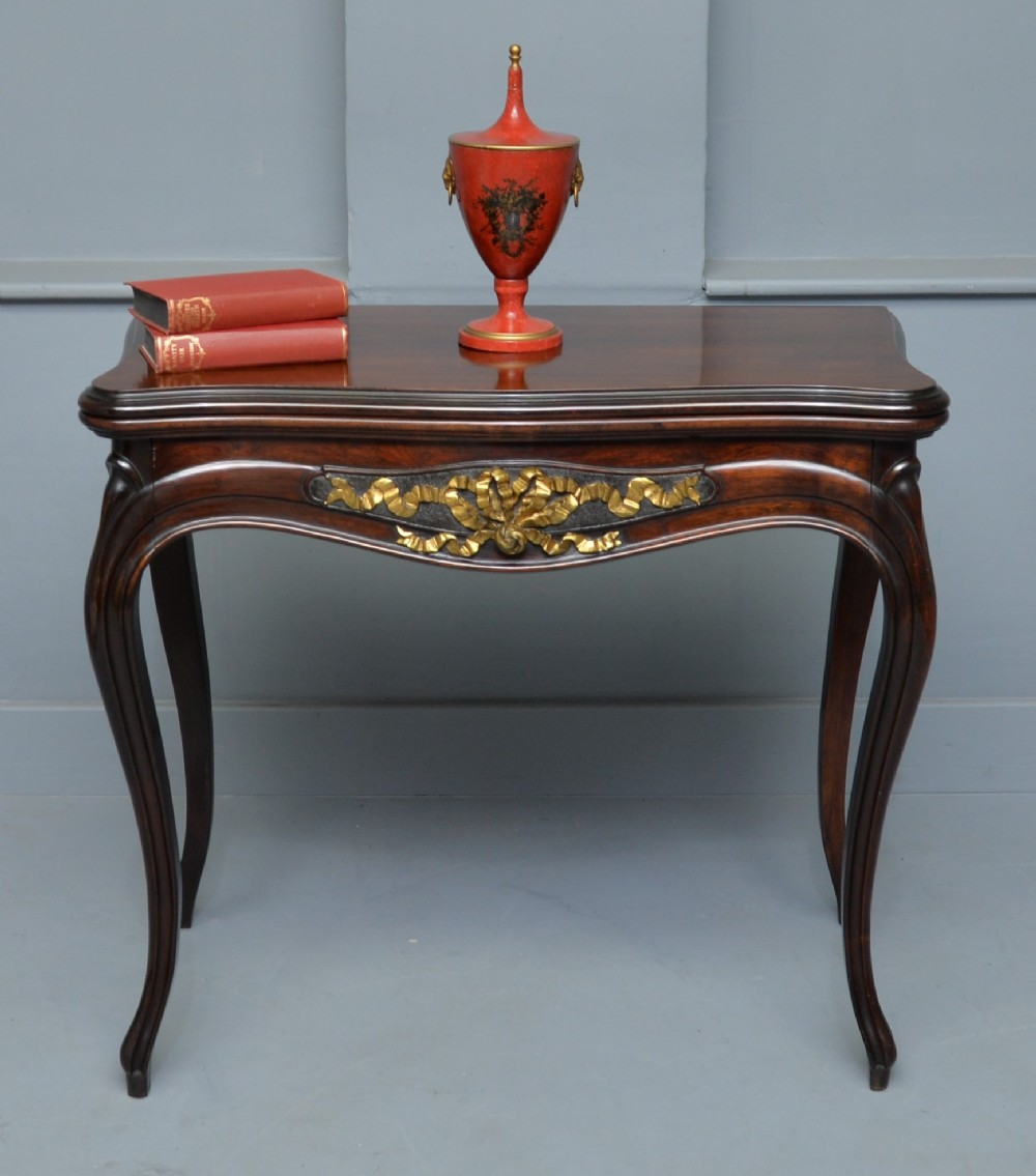 french louis xv mahogany console card table