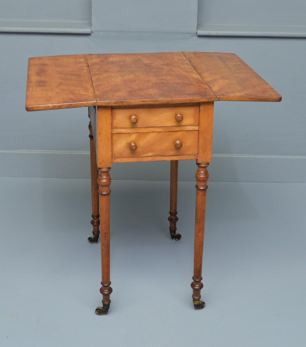 regency satinwood pembroke work lamp side table