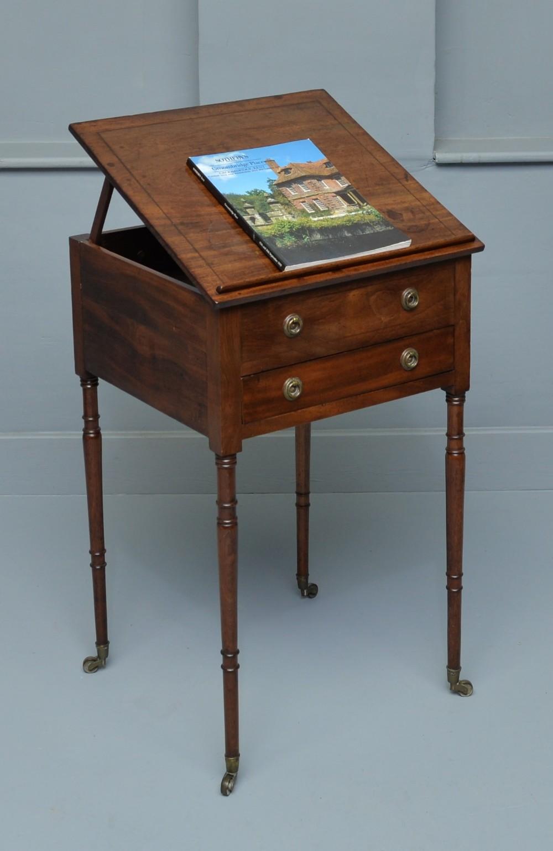 regency mahogany reading table occasional table