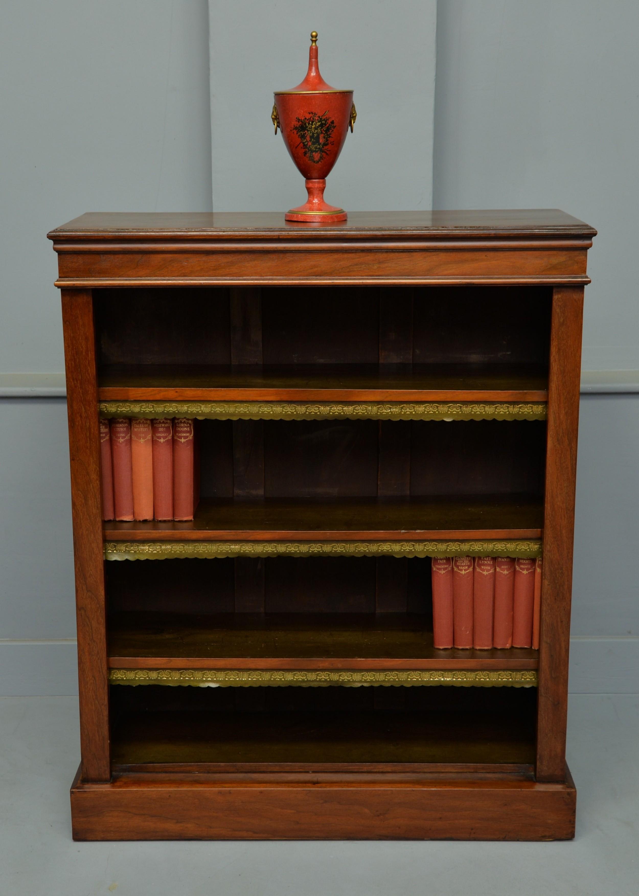 victorian mahogany open adjustable bookcase