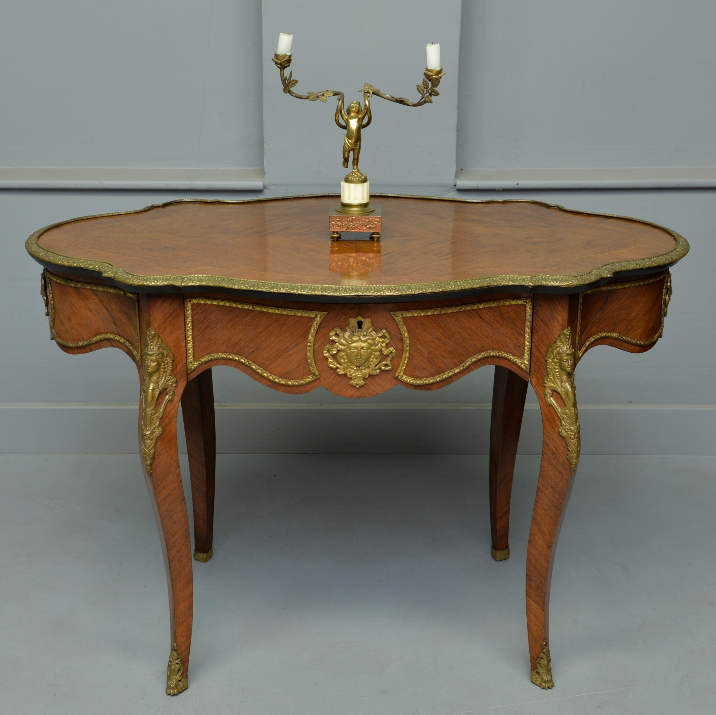late 19th century louis xv style kingwood centre table hall table dressing table