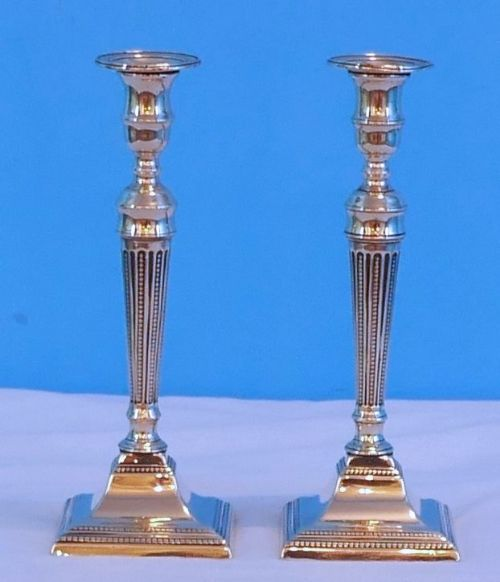 pair brass george 111 candlesticks