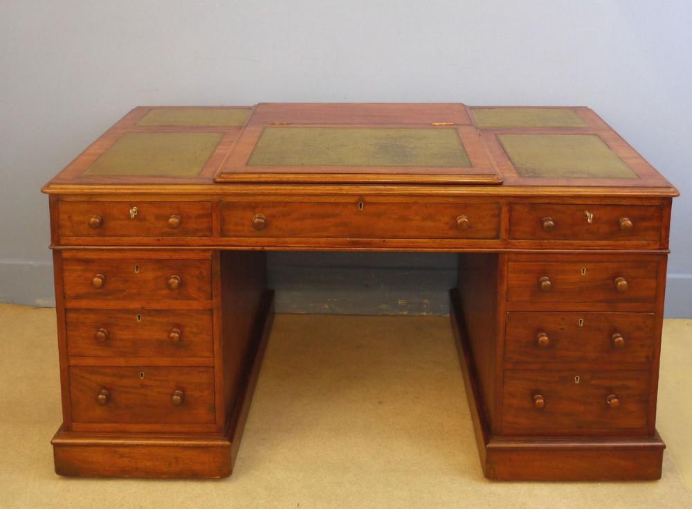 mahogany kneehole writing desk