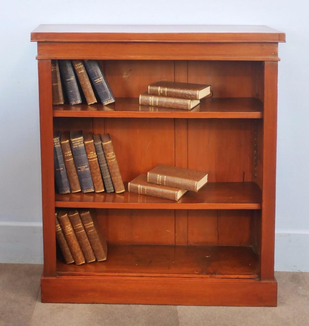 small victorian mahogany open bookcase