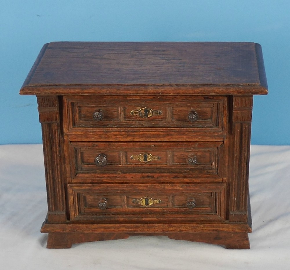 miniature oak chest of drawers