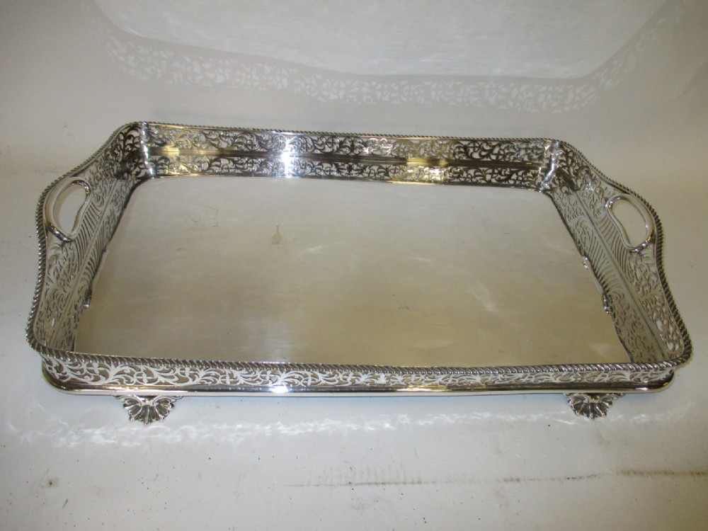 fine quality silverplated tray