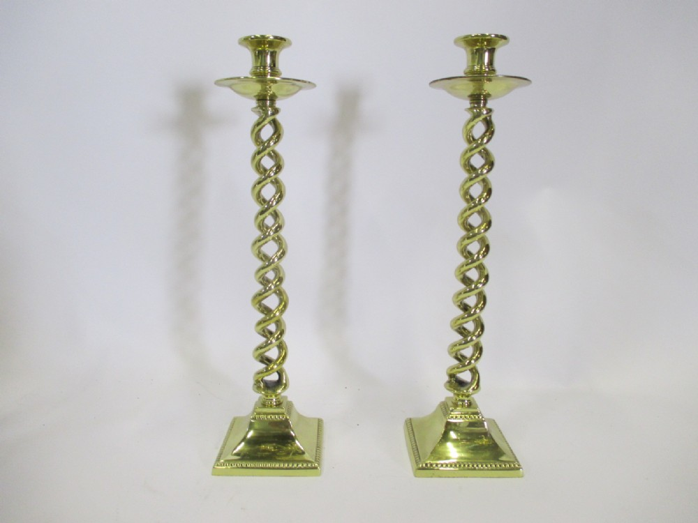 two twist candlesticks