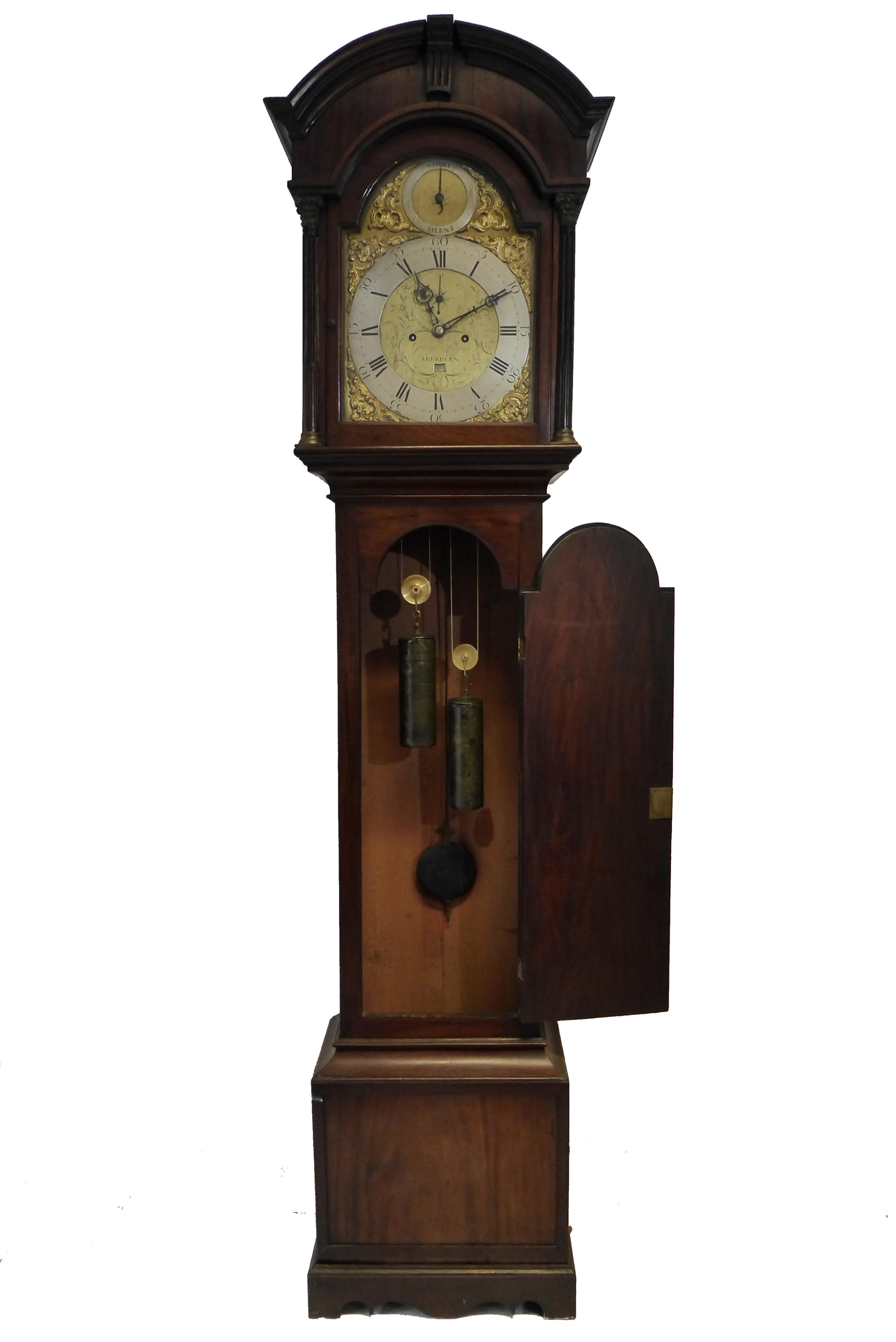 fine scottish antique georgian mahogany grandfather clock