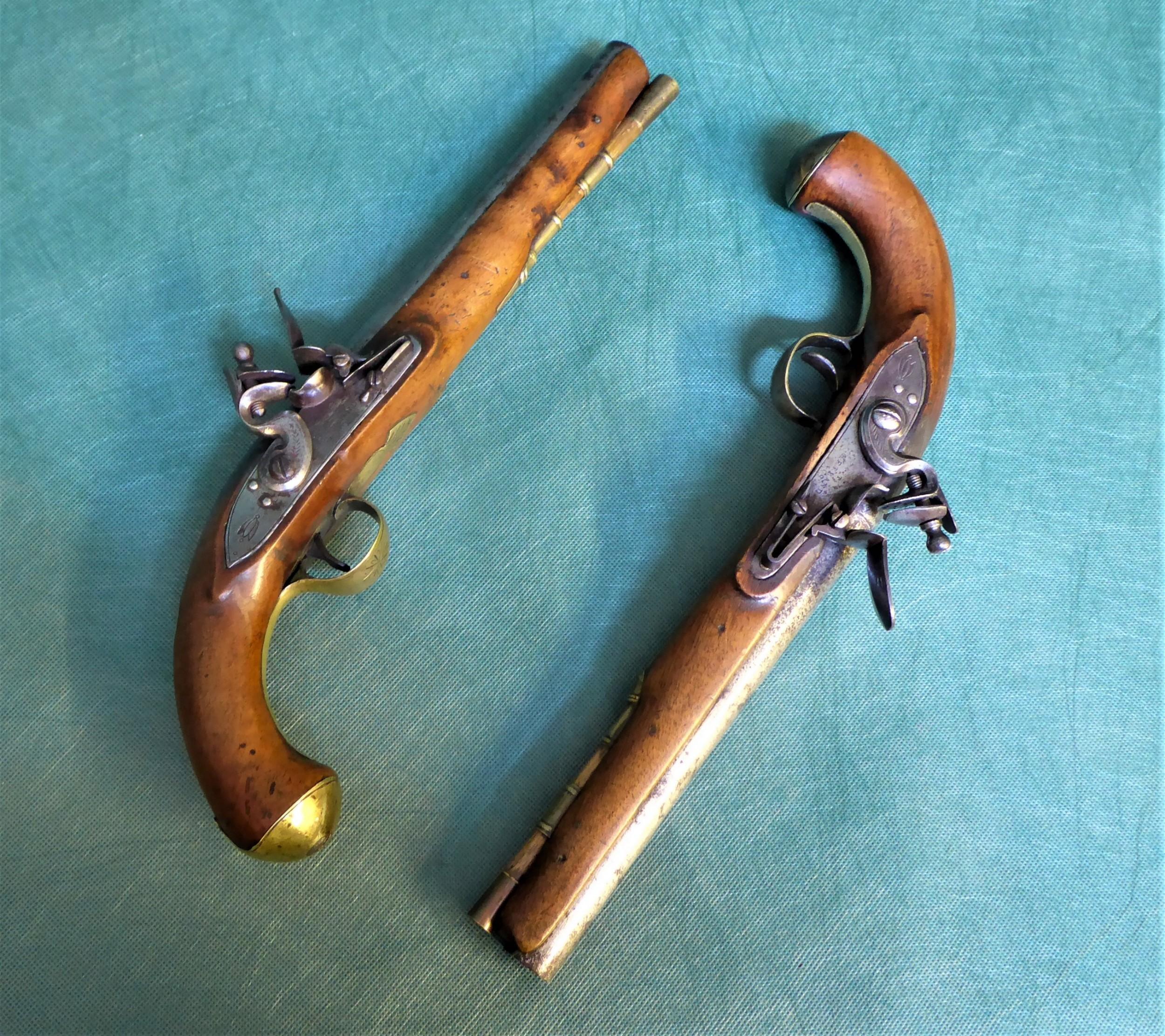a pair of cased flintlock holster pistols by t ketland co circa 1785
