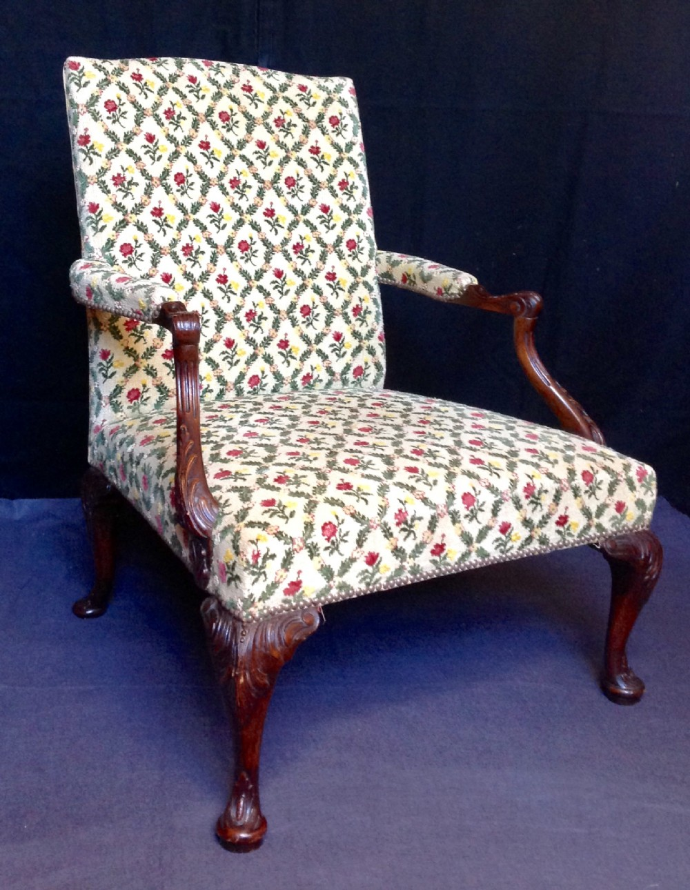 19th century mahogany gainsborough chair