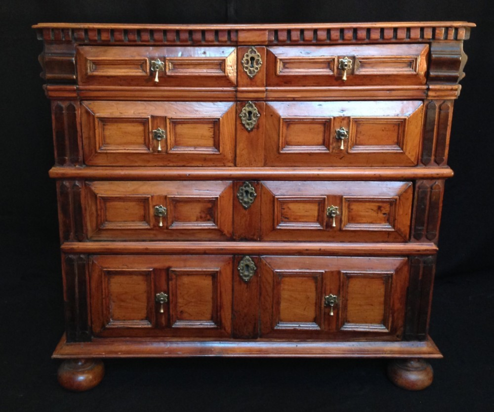 17th century cedar wood chest of drawers