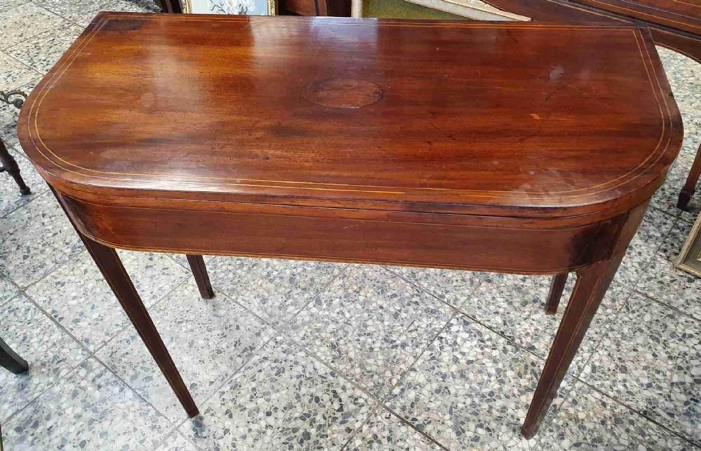 georgian mahogany d shaped tea table