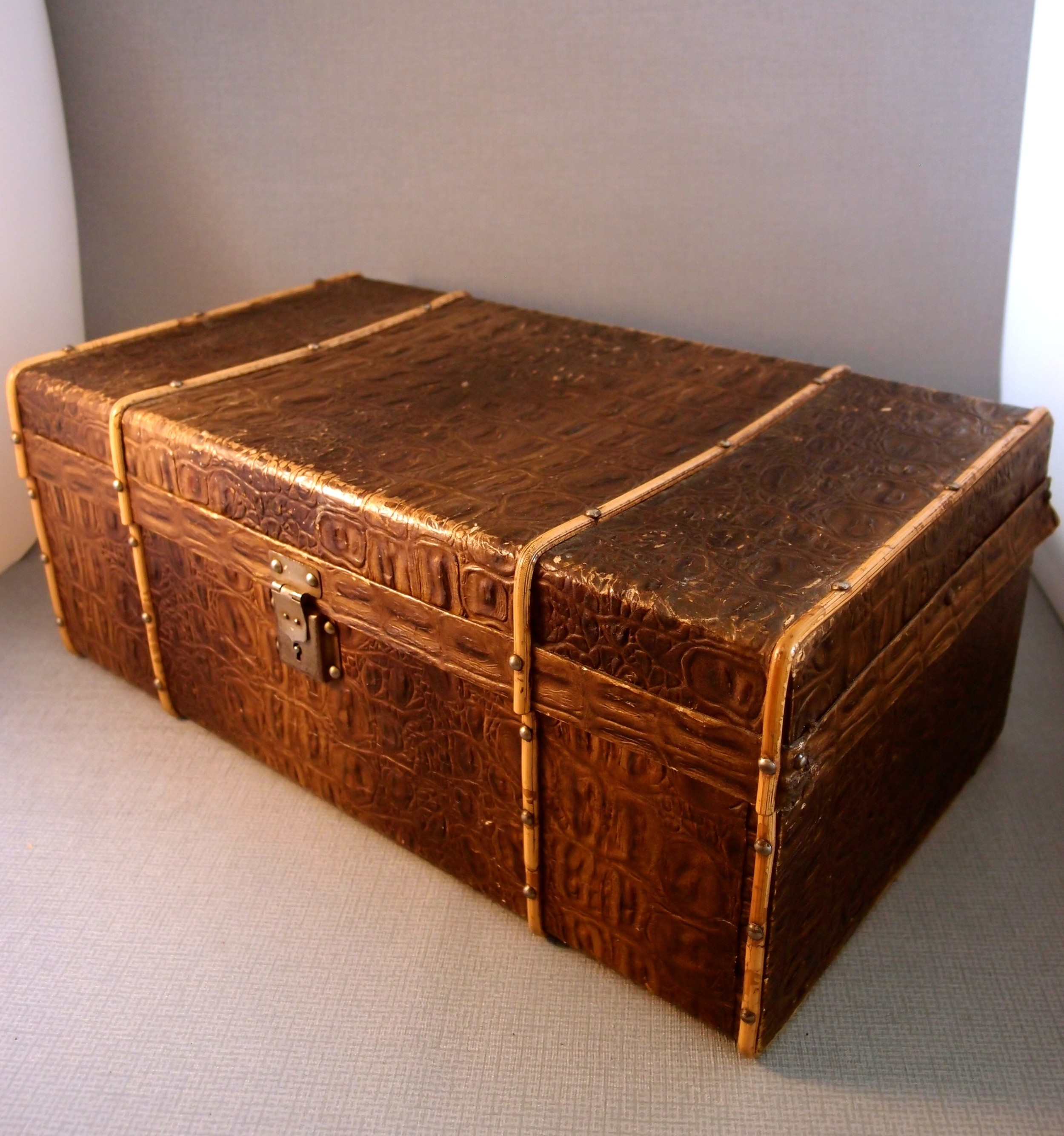 french dolls travelling trunk with key