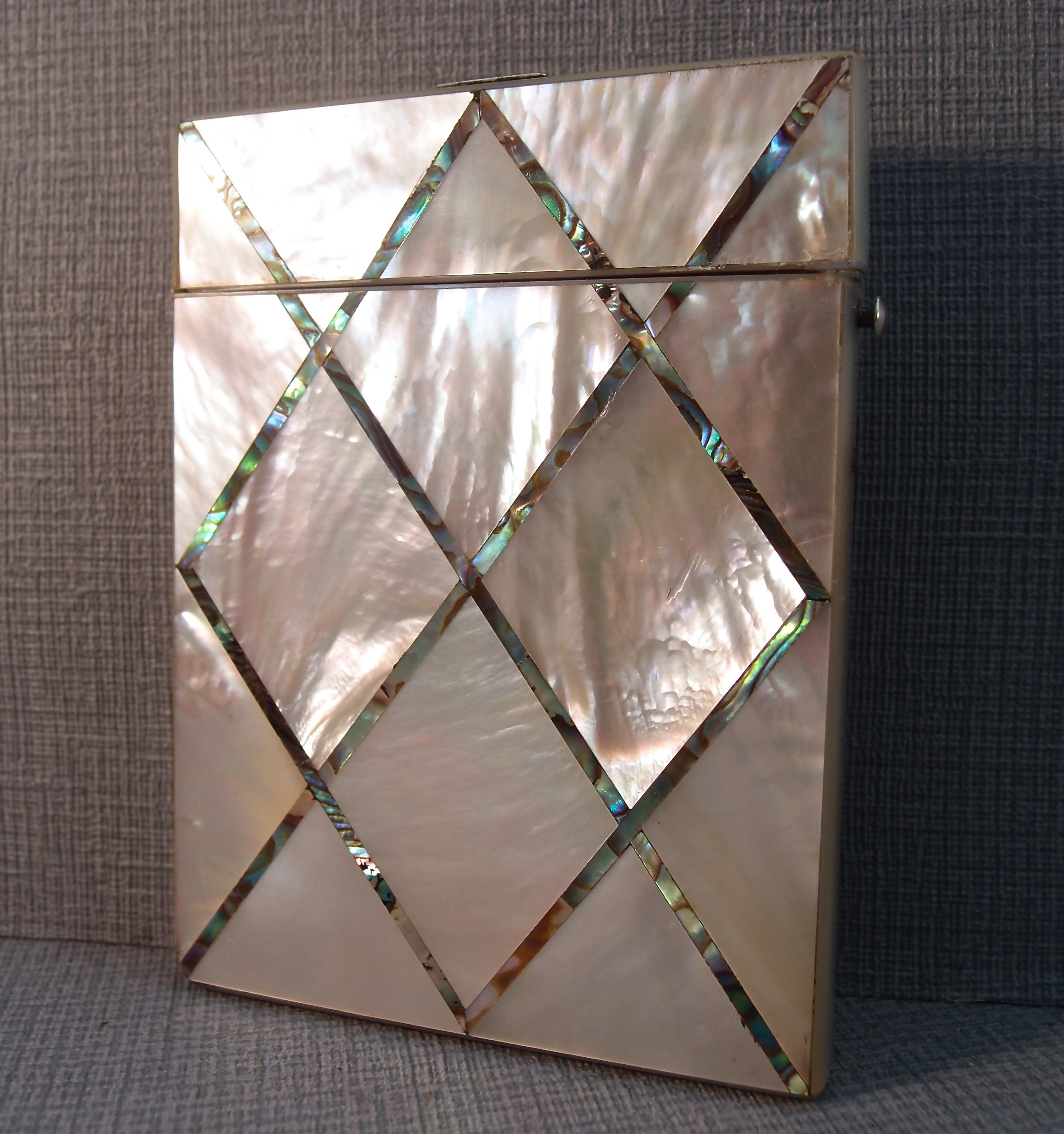 19th c mother of pearl card case