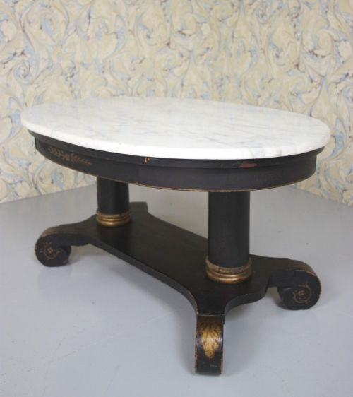 1920 39 S Oval Marble Topped Coffee Table 240506
