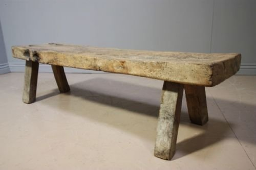antique oak pig bench coffee table