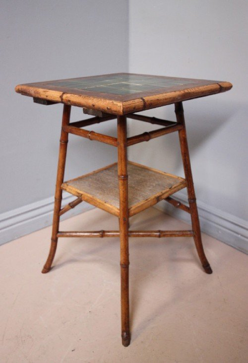 Antique victorian bamboo side table 107083 for Bamboo side table