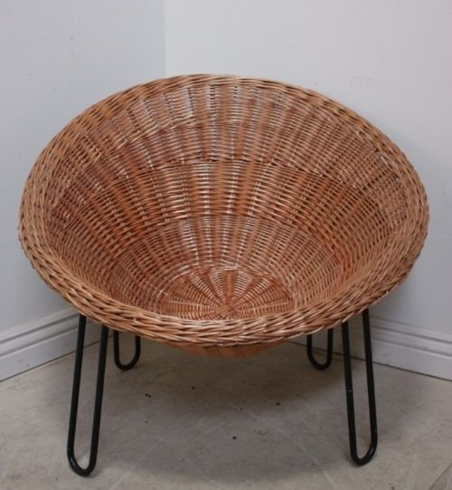 1960's vintage basket chair   56892   sellingantiques.co.uk