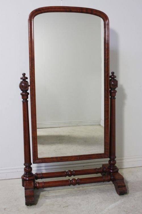 William Iv Antique Full Length Cheval Mirror 64822