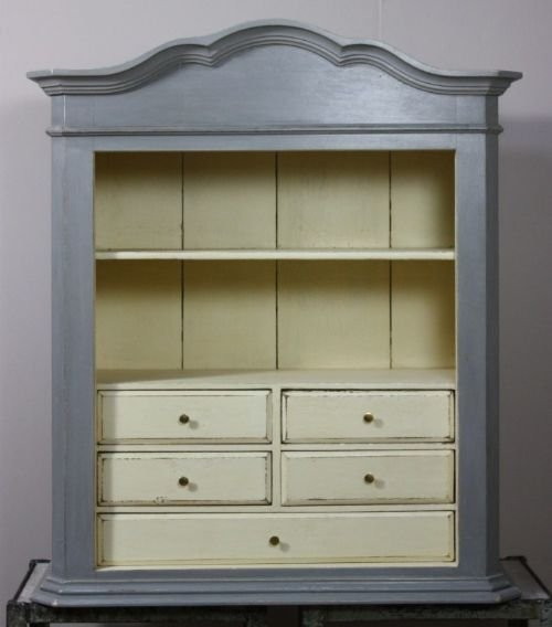 19th Century French Antique Wall Cabinet Display 69538